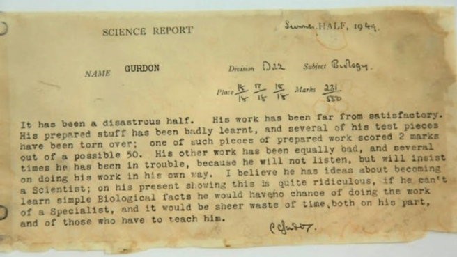 John Gurdon's School Report